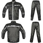 Akito Storm Motorcycle Motorbike Waterproof Rainwear Oversuit 2 Piece Black