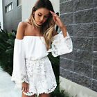 UK Sexy Womens Lace Dress Ladies Party Evening Dress Playsuit Jumpsuit Bodysuit