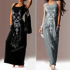 Women Sexy Casual Boho Long Evening Party Beach Dress Vest sundress Gray Black