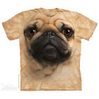 The Mountain PUG DOG FACE Adult Men T-Shirt S-2XL Short Sleeve Tan