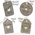 Mini Personalised Laser Engraved Formica Wedding Favour Tags/Thank You Tags