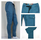 Kayden.K Men's Elastic Waist Streatch Twill Tapered Fit Cargo Pants