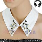 Fashion Women's Black Or White Lace Crystal Beads Choker Necklace Fake Collar