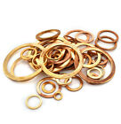 Marine Table M5 M6 M8 -M48 Copper Seal Flat Washer Gasket Ring Thick1-1.5-2mm