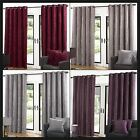 Ventura Faux Velvet Ready Made Curtains Lined Eyelets Ring Top Plain Velour