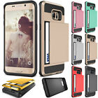 Slim ShockProof Card Pocket Hybrid Wallet Case For Samsung Galaxy S6 Edge+Plus