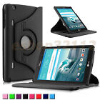 """Rotating PU Leather Case Cover For LG G PAD X8.3 VK815 8.3"""" 4G LTE Tablet"""