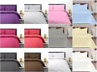 Plain Egyptian Cotton & Poly Percale Deep Fitted Bed Sheets Single Double King image