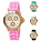 Invicta Women's Multi Calendar Speedway Yellow Gold Silicone Watch