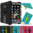 Protective 3 Layer Shockproof Dustproof Rubber Stand Case For Apple iPad 2 3 4