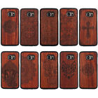 Natural Wooden Wood Bamboo Case + PC Bumper Cover For Samsung Galaxy S7/S7 Edge