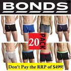 20 PACK x MENS BONDS GUYFRONT TRUNK UNDERWEAR BLACK BLUE SHORTS - RRP $499 !!!!!