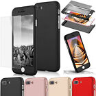 Full Body Shockproof Tempered Glass Protector Case For iPhone 5S SE 6 6S 7 Plus