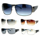 SA106 Mobster Oversize Rectangular Thick Temple Designer Sunglasses