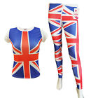 Ladies Union Jack Top & Legging Set Women Fashion Costume 2 Piece Set Outfit