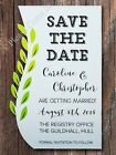 Personalised White Swirled Vine Wedding Save the Date Cards with Envelopes