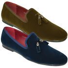 Mens Velvet Loafers Designer Smart Driving Tassle Shoes Slip On Moccasin Leather