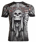 Xtreme Couture AFFLICTION Mens T-Shirt PALA Skull Indian Biker MMA S-3XL $40 image