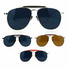 SA106 Retro Vintage Clip Double Bridge Metal Aviator Sunglasses
