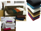 100% Cotton HONEYCOMB Waffle BUTTON Sofa Settee Bed Throwover Tasselled Edging