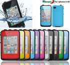 Shockproof Waterproof Snow Dirt Proof Case Cover For iPhone 4 4S life in Water