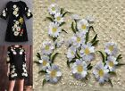 Embroidered White Floral Sewing Appliques Motif Trims Trendy Design Dress WT51