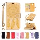 Cards Stand Wallet Strap Pattern Flip Leather Case Cover For Huawei Ascend Y625