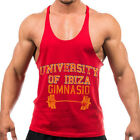 NEW University of Ibiza Men's Gym Stringer Vest Muscle Tank Vintage Red RRP £45