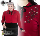 HELL BUNNY Annabelle ~ Red Swallows Pinup Cardigan ~ Rockabilly 50s Plus Size