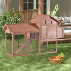 "Wooden 82"" Chicken Coop Rabbit Hutch Poultry Cage Hen House Nest Backyard 0310"