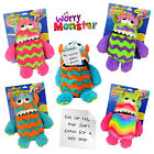 CHILDRENS WORRY MONSTER SOFT TOY TEDDY LOVES EATING YOUR WORRIES PSYCHOLOGIST