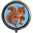 Squirrel Kawaii Pill Box Case Pillbox Woodland Creatures Kitsch Retro Trinket