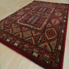 Oriental Baluch Red Rugs | A Traditonal Tribal Design High Quality Wilton Rug