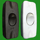 In-line 2A On/Off Single Pole Rocker Black/White Switch 2 Core Cable Light Lamps
