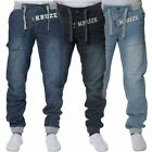 New KRUZE Mens Designer Casual Jogger Cuffed Denim Jeans All Waist Big Sizes