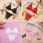 Lacy Baby Doll Night Wear*Set of Bra&G-String*1 Size Fits Most*Black-Red or Pink