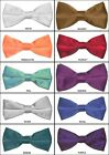 Solid Colors Satin Bow-Ties. Formal, Wedding, Prom