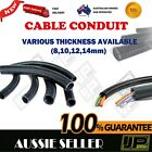 CABLE CONDUIT PLASTIC Black Spiral Conduit Non Split Tube Cable  8, 10, 12, 14mm