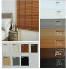 STUNNING FAUX WOOD - PVC Venetian Blinds - 50mm Slats - 7 Colours Available