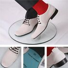 Delicious Junction Terry Rawlings Mod Corded Suede Chisel Toe Shoe Stone