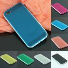 iPhone 5 5G Transparent Soft Back Skin Cover Case Bumper Frame Black White Blue