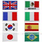 New! Countries's Flags Series Sew-On Patches Shoulder board Embroidered Gift