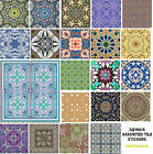 Various 24 Pack Moroccan Tile Sticker Decal Kitchen Bathroom Self Adhesive