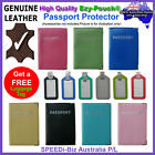 HQ Genuine Leather Travel Passport Card Holder Cover Wallet Pouch Protector Case