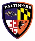 BALTIMORE ORIOLES RAVENS Fan Sticker Decal Vinyl on Ebay