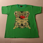 T.Shirt With  DRAGON AND YIN -YANG Colors Green Brown Dark Green Blue Size. M
