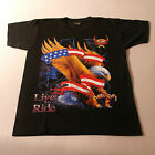 QualityT.Shirt With EAGLE Color In Front Black White At Back Size S - M - XXL