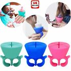 Nail Art Silicone Wearable Nail Polish Holder Professional Display Tips Decor US