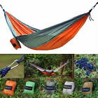 Portable Travel Camping Outdoor Double Hammock Parachute Nylon Fabric Swing