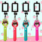 Cartoon Extendable Handheld Wired Selfie Stick Monopod for iPhone Samsung Huawei